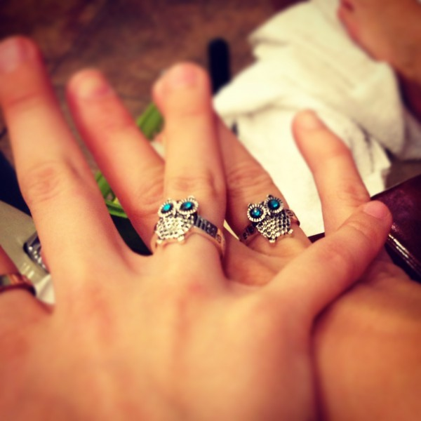 Matching big & little rings. TSM.