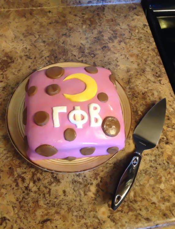 Appreciating your baking skills a lot more when it represents your sorority. TSM.