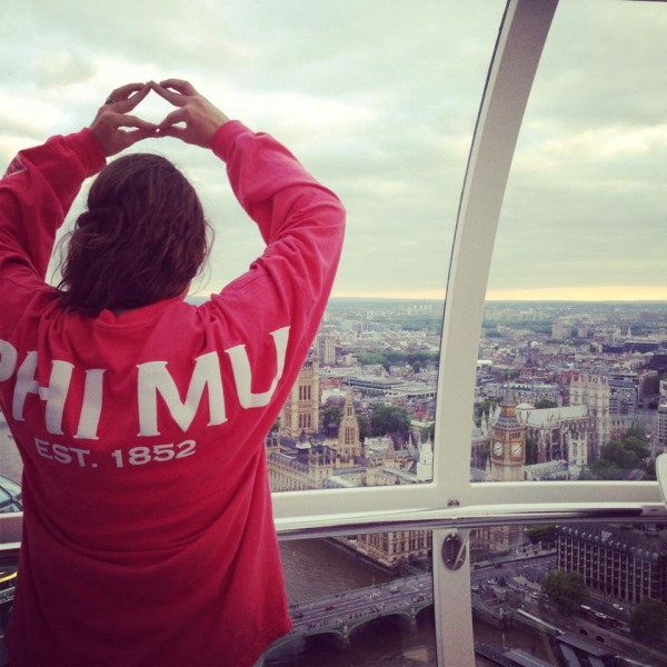 Throwing what you know on the London Eye. TSM.