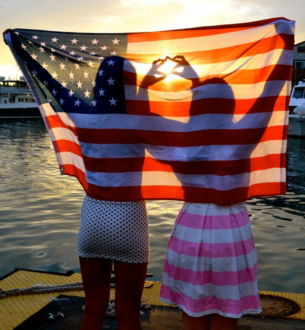 Sisters, sunsets, and stars & stripes. TSM.