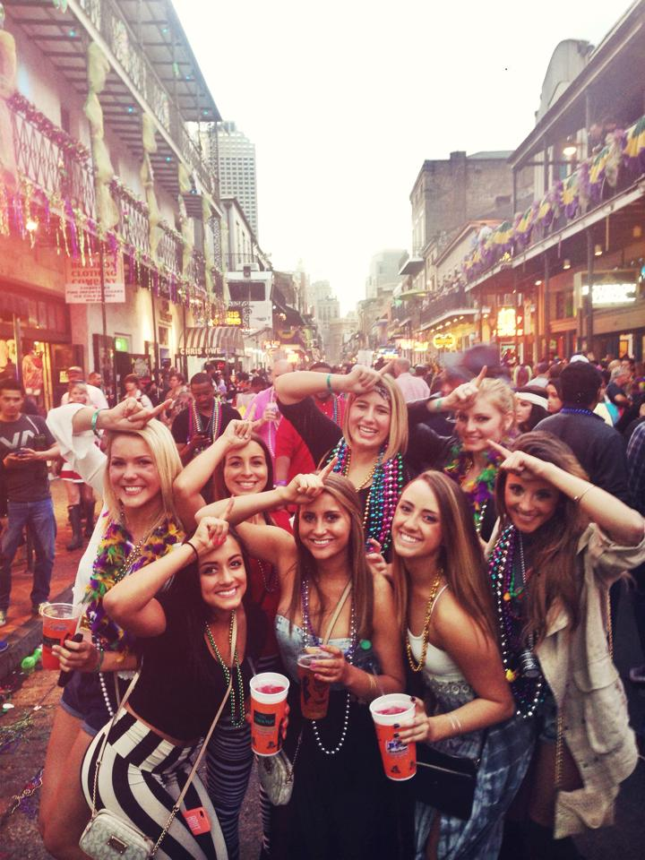 Mardi gras bourbon street sex