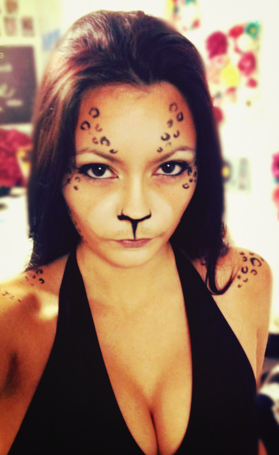 Halloween Hair and Makeup - Leopard