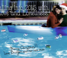 lonely girl christmas card
