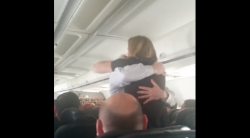 Pilot Proposes To His Flight Attendant Girlfriend Mid-Flight And Love Was Literally In The Air