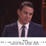"Channing Tatum And Jimmy Fallon Act Out Hilarious Kid Written Versions Of ""Magic Mike"""