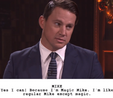 """Channing Tatum And Jimmy Fallon Act Out Hilarious Kid Written Versions Of """"Magic Mike"""""""