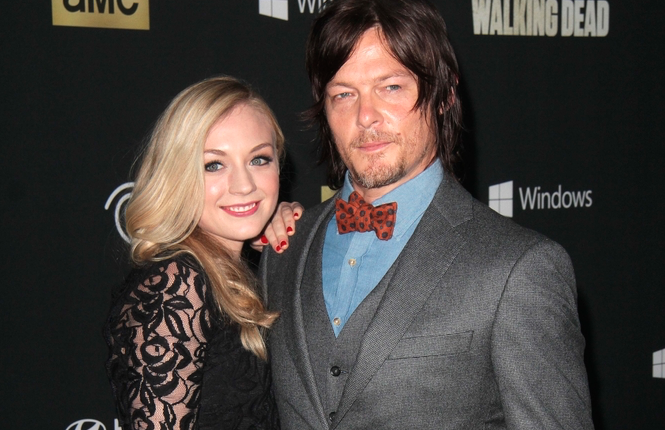 daryl and beth actors dating Actors emily kinney (left) and norman reedus, pictured here at the season 4 premiere of the walking dead, recently had to crush rumors that they'd started dating.