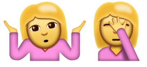 Shrug/Facepalm AKA The 'I Fucked Up' Emojis