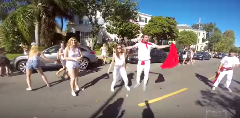 "Some Dudes Celebrate The ""Running Of The B*tches"" At USC's Sorority Bid Day"