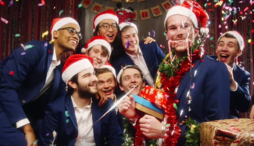 Oxford's All-Male Acapella Group Just Dropped A Fire Christmas Video