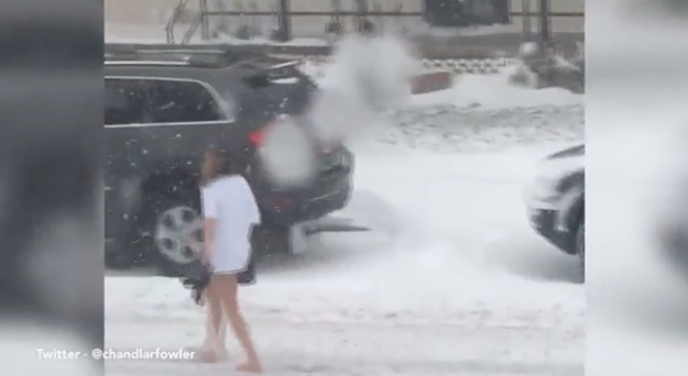 This Girl's Mid-Blizzard Walk Of Shame Is Legendary