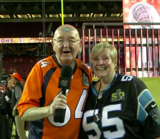 James Corden's Parents At The Super Bowl Is Everything You Never Knew You Needed