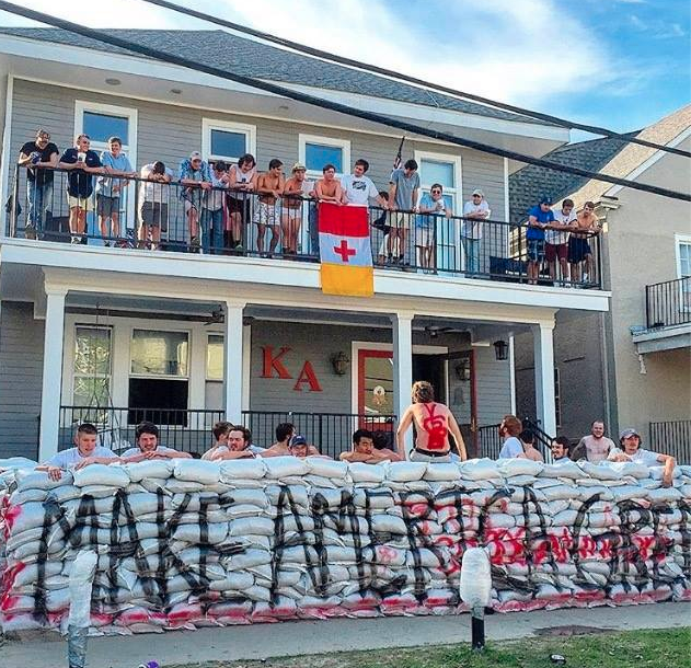 Kappa Alpha At Tulane Built A Trump Wall Around Its House