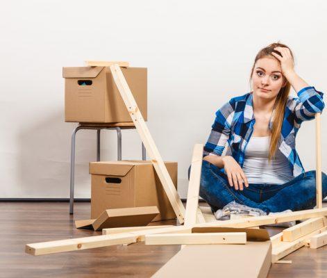 Putting together furniture