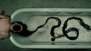 Teaser for American Horror Story season 6 woman in bathtub with long hair