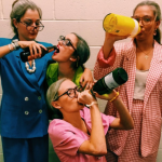 Sorority girls dressed as grandmas