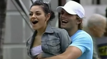 Ashton Kutcher Mila Kunis Being Cute