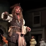 Johnny Depp Just Randomly Showed Up At Disney Dressed As Jack Sparrow (Video)