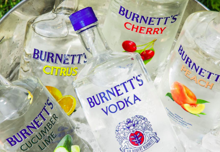 I'll Never Forget My First Love, Burnett's Vodka