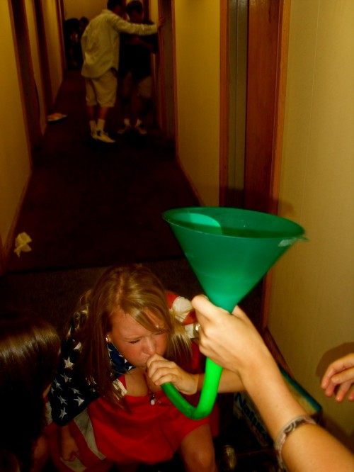 Beer bonging for America. TSM.