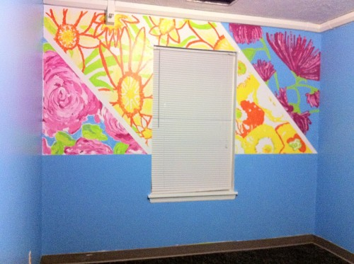 4 Lilly Pulitzer prints on our wall in the AOPi House :) TSM.