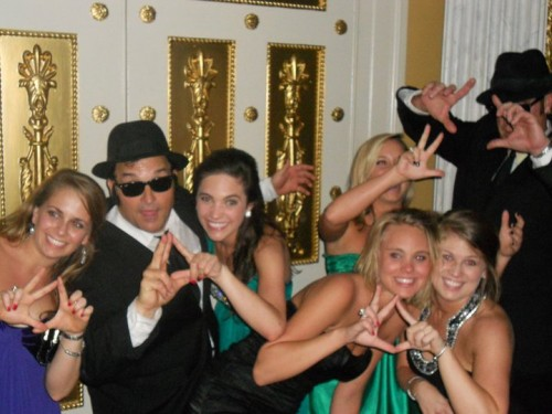 The Blues Brothers throw it up with us.