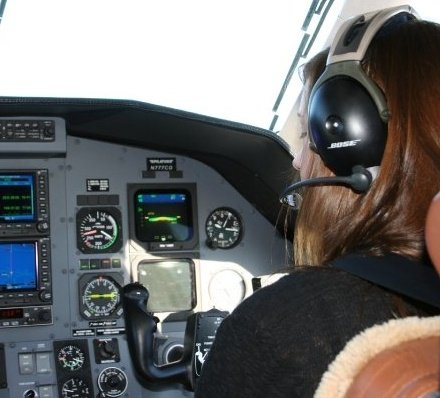 Daddy lets me fly copilot in the private jet :)