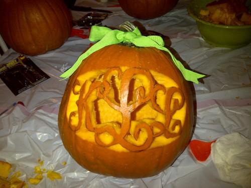 Monogramming everything, even pumpkins. TSM.