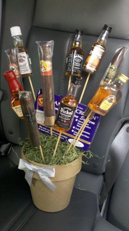 Birthday bouquet for my fratdaddy. TSM.