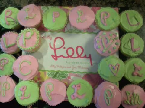 Cupcakes for my Lilly brunch! TSM.