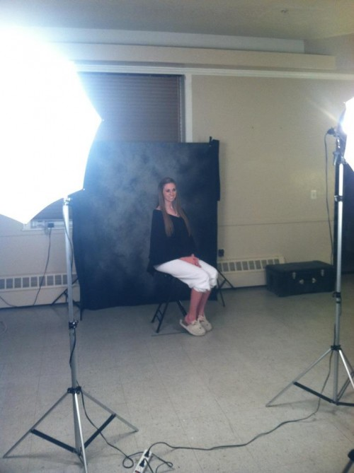 Composite pictures: classy on the top, bunny slippers on the bottom. TSM.
