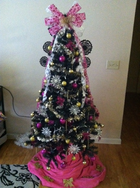 We just couldn't wait any longer to put our tree up. TSM.