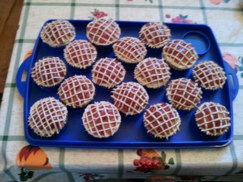 Cherry pie cupcakes. Happy Thanksgiving all!!