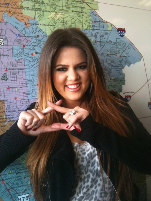 Even Khloe Kardashian wishes she were a Chi Omega. TSM.