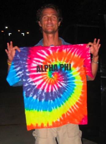 Matthew McConaughey supporting his favorite sorority. TSM.