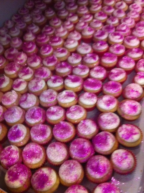 Think we made enough pink glitter cupcakes? TSM.
