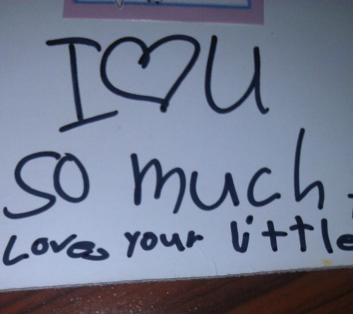 The 7-year-old I nanny for calling herself my little. TSM.