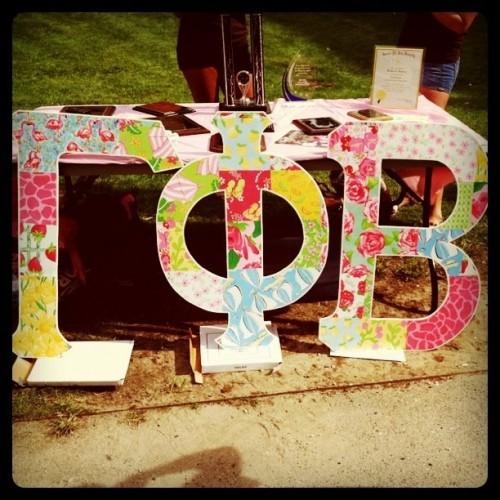 Pretty letters for an even prettier sorority.