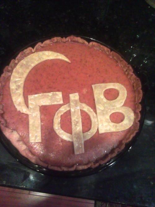Gamma Phi pumpkin pie. TSM.