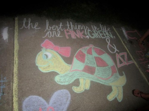 Just your average sidewalk chalk. TSM.
