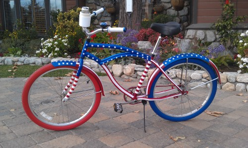 No cop would even think about giving a BUI on this custom painted cruiser.