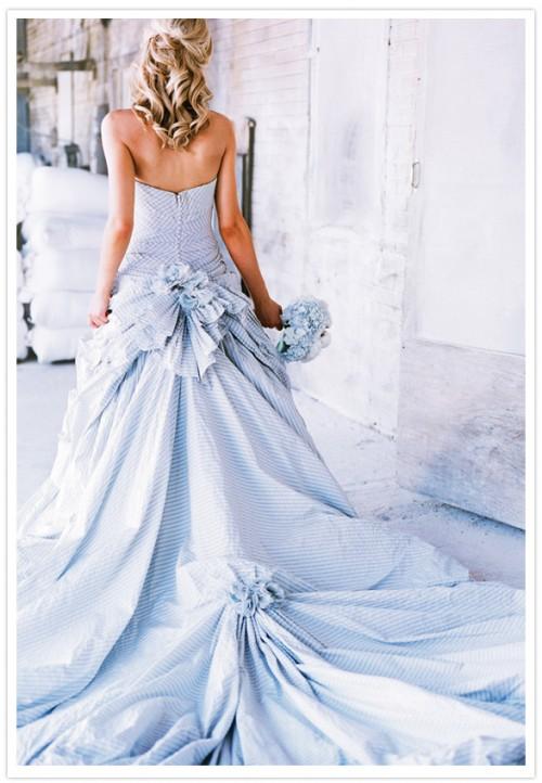 Seersucker wedding dress. TSM.