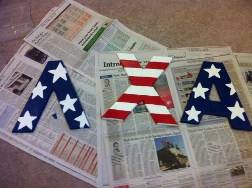 Crafting for America, and my little bro. TSM.