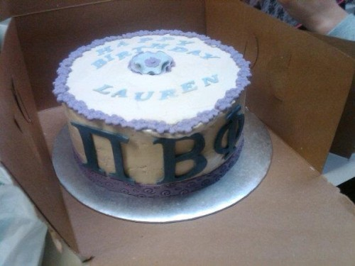 You know you're obsessed with your sorority when even your birthday cake has your letters. TSM.