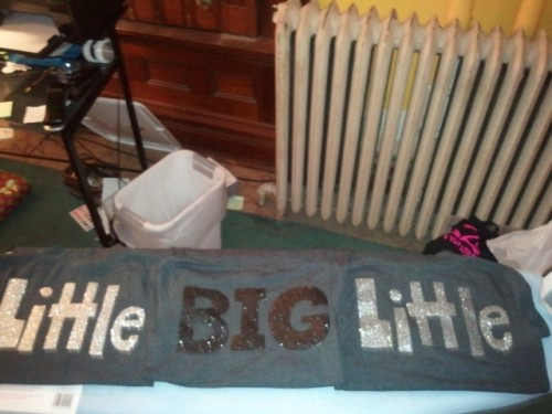 Because you can never have enough glitter for Big/Little Reveal. TSM.