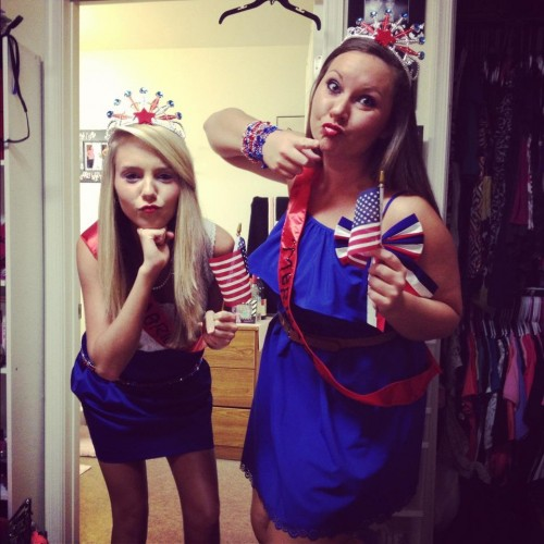 Incorporating America into any and every mixer theme. TSM.