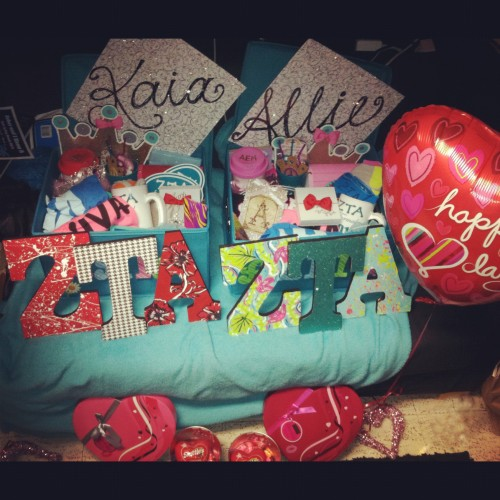 Valentine's Day love from our Big...with homemade Lilly letters, of course!