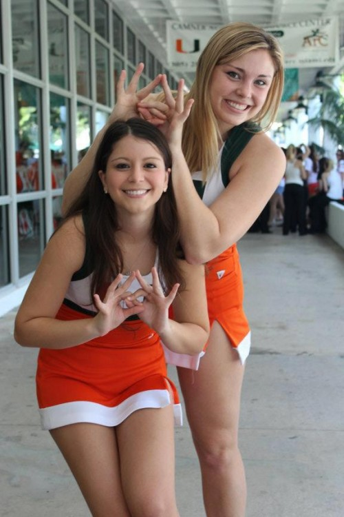 Miami cheerleader Big and Little. Match made in heaven. TSM.