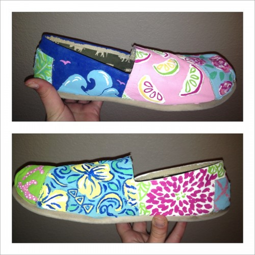 Lilly painted Toms! TSM.