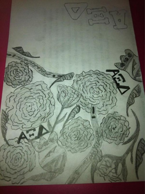 Memorizing my new Lilly print and spending class drawing it by heart. TSM.